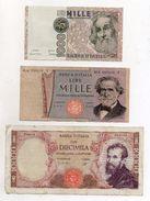 Italia - Lotto 3 Banconote Repubblica - Decreti Vari - Vedi Foto - (FDC5100) - [ 2] 1946-… : Républic