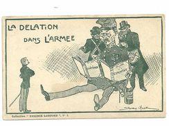 """CPA  """"la Délation Dans L'armée """" Illustration Sandy Hook, Francs-maçons Conspirateurs, Collection """"essence Lesourd""""  N°2 - Persönlichkeiten"""