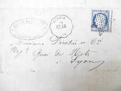Lettre Avec Cérès N° 60C TAD Convoyeur Station Corbie étoile Muette Indice 10 - Marcophilie (Lettres)