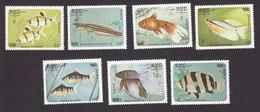 Cambodia, Scott #638-644, Mint Hinged, Fish, Issued 1985 - Cambodge