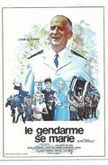 CPM Affiche Sur Carte Louis De Funès Le Gendarme Se Marie Film De Jean Girault - Posters On Cards
