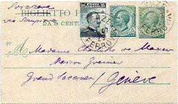 ITALY / ITALIA 1928. Entire Letter Card. Biglietto Postale Da 5 Centesimi Vitt. Emanuele III, To Genève - 1900-44 Vittorio Emanuele III