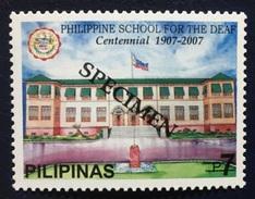 Philippines 2007 Specimen - School For The Deaf Centennial 1V MNH - Languages
