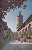 Germany Rothenburg ob der Tauber Der Klingentorturm nebst Stadtm