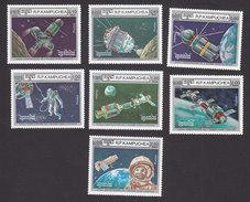 Cambodia, Scott #670-676, Mint Hinged, Space Program, Issued 1986 - Cambodge