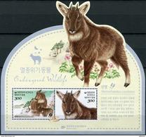 Korea South. 2017. Endangered Wildlife. Long-tailed Goral (MNH OG **) Souvenir Sheet [DLC.ST-003424] - Korea (Süd-)