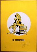 XL Ex-libris Numéroté (75 Ex.) Et Signé Par Matthieu BONHOMME : L'HOMME QUI TUA LUCKY LUKE (sérigraphie) - Ex-libris