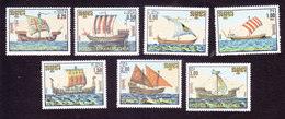 Cambodia, Scott #698-704, Mint Hinged, Shipss, Issued 1986 - Cambodge