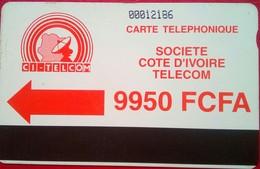 Ivory Coast Phonecard 9950 Francs Autelca - Côte D'Ivoire