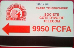 Ivory Coast Phonecard 9950 Francs Autelca - Ivory Coast