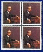 Canada 1982 Jules Leger (#914) Block 4 Stamps MNH ! - 1952-.... Regno Di Elizabeth II