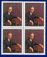 Canada 1982 Jules Leger (#914) Block 4 Stamps MNH ! - 1952-.... Reinado De Elizabeth II