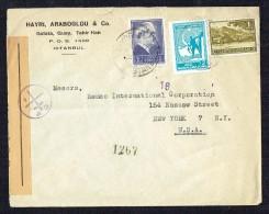 1941  Lettre D'Istambul Pour Les USA - Censure Des FFL (Liban-Syrie) - Lettres & Documents