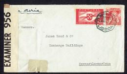 1942  Lettre Avion De Lisbonne Pour L'Angleterre - Censure Anglaise - 1910-... République