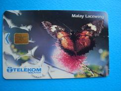 MALAYSIA  USED CARDS  BUTTERFLIES RM 50 - Malaysia