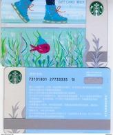 2017 China Starbucks Happiness Skating Gift Card Set RMB100 - Gift Cards