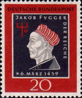 RFA Poste N** (Yv: 178 Mi 307) Yv:0,6 Euro Jakob Fugger Der Reiche - [7] Federal Republic