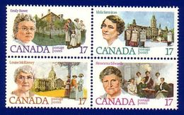 Canada 1981 Canadian Feminists (#882a) Block 4 Stamps MNH ! - 1952-.... Reign Of Elizabeth II