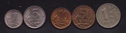 Russian Federation 2005 / 2008 1 Kopeke / 1 Rub 5 Coins : See Scans From Both Sides - Rusland
