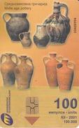 MACEDONIA - Midle Age Pottery,GEM5 (Red), 12/01 , Tirage 100,000 ,100 U, Used - Macedonia