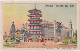 Chromo Chocolat Guerin-boutron Le Champ De Mars  Le Tour Du Monde Exposition 1900 - Guérin-Boutron