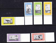 Europa Cept 1963 Calf Of Man / Isle Of Man 6v (+margin)** Mnh (36344) - Europa-CEPT
