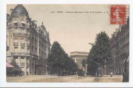 CPA 75- PARIS - L'AVENUE MARCEAU ET L'ARC DE TRIOMPHE - Arc De Triomphe