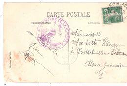 Carte Pour L'ALSACE LORRAINE Avec Cachet De Censure MINISTERE DE LA GUERRE CONTROLE - Poststempel (Briefe)