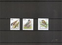 Oiseaux -Buzin ( 3389/3391 Non Dentelés De Belgique  - Cote COB:150 Euros) - Oiseaux