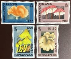 Turks And Caicos 1991 Fungi Mushrooms MNH - Pilze
