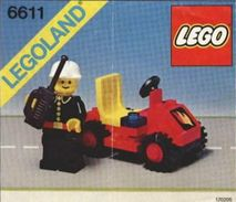 Lego 6611 - Capitaine Des Pompiers Lego - Playmobil