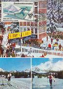 D30434 CARTE MAXIMUM CARD TRIPLE 1970 CZECHOSLOVAKIA - TATRY MOUNTAINS LANGLAUFEN SKIING CP ORIGINAL - Skiing