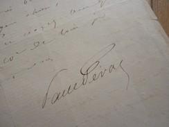 Paul FEVAL (1816-1887) Romancier CAPE Et D'EPEE. Feuilletoniste. AUTOGRAPHE - Autógrafos