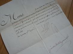 Louis XVI (1783) PRISON à CREST (Drôme) Révocation LETTRE De CACHET. Libération Détenu. AUTOGRAPHE - Autographes