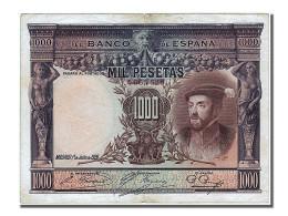 Espagne, 1000 Pesetas, Type Charles Quint - [ 1] …-1931 : Premiers Billets (Banco De España)