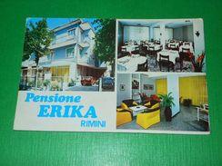 Cartolina Rimini - Pensione Erika - Vedute Diverse 1970 Ca - Rimini