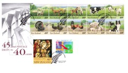 New Zealand 1995 Farmyard Animals Postage Rate Decrease FDC - FDC