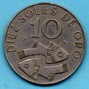 C3/  PERU / PEROU 10 SOLES DE ORO 1969  KM#253 - Pérou