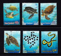 New Zealand 2001 Marine Reptiles Set Of 6 Used - - New Zealand