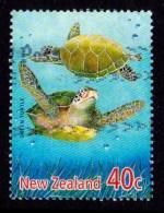 New Zealand 2001 Marine Reptiles 40c Green Turtle Used - New Zealand