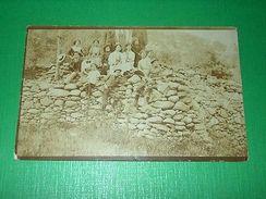 Cartolina - Foto Di Gruppo - Costumi D' Epoca 1910 Ca - Italie