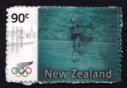 New Zealand 2004 Olympics Athens Gold Lenticular 90c Used - New Zealand