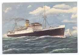 CPSM Illustrée Illustrateur Astor Paquebot Corinthia Compagnie Hellenic Mediterranean Lines Piraeus éditeur Schenome - Piroscafi