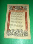 Cartolina Poesia Sciopero Infantile 1910 Ca - Cartes Postales