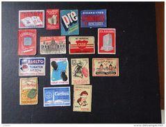 Etiquettes: Belgique 1958 Lot De 15 étiquettes Publicitaires - Boites D'allumettes - Etiquettes