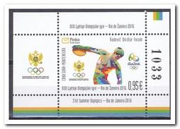 Montenegro 2016, Postfris MNH, OLYMPIC GAMES RIO 2016 - Montenegro