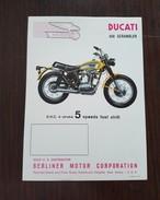 Ducati 450 Scrambler 1970 Genuine Factory Motorcycle Brochure - Depliant Moto Originale - Originalprospekt - Motor Bikes