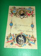 Cartolina In Rilievo Michelangelo Buonarroti ( 1475 - 1563 ) - Ritratto 1904 - Cartoline