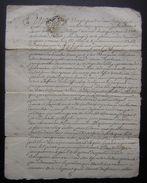 1771 Saint Jean D'Angely, Généralité De La Rochelle Transaction Entre Pierre Gaingueneau Et Jean Bourgevon - Manuscripts