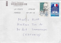 GOOD FRANCE Postal Cover To ESTONIA 2016 - Good Stamped: Heroult ; Israel - Frankrijk